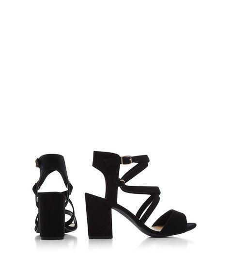 New Look Wide FitWIDE FIT WONDER - High heeled sandals - black sRDkr3pLx