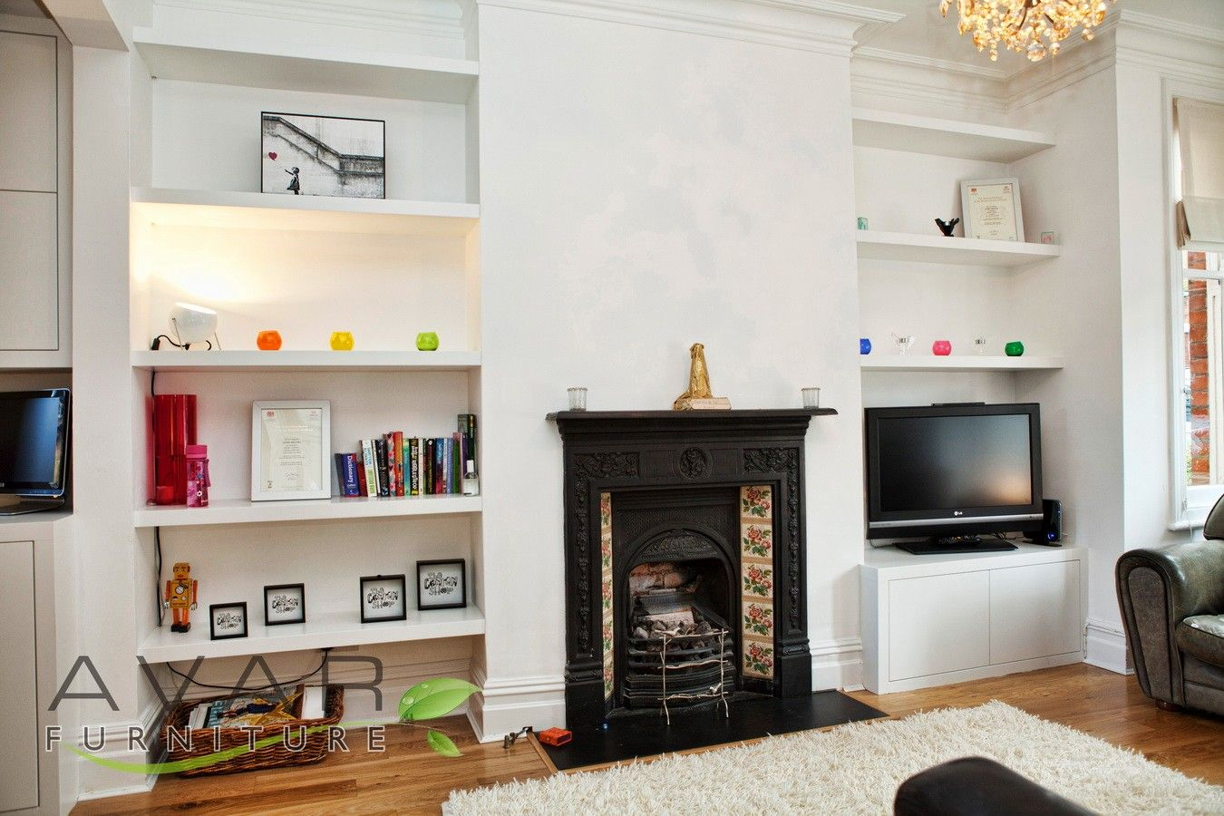 Alcove Shelves, Fitted Alcove Cabinets, London From Avar