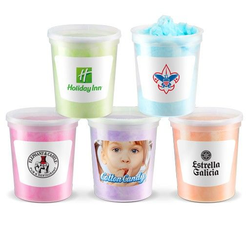 Cotton Candy made fresh, packed in a reusable container and shipped out. A great item for Fund Raising, Fairs, Reunions and so much more. Tamper resistant lid with breakaway tabs. Lid does re-close, ensuring long lasting freshness, allowing to save some for later. Available in 14 delicious flavors.  Webb Company.  Contact your Geiger Rep. or call 1.866.843.1212 for more information
