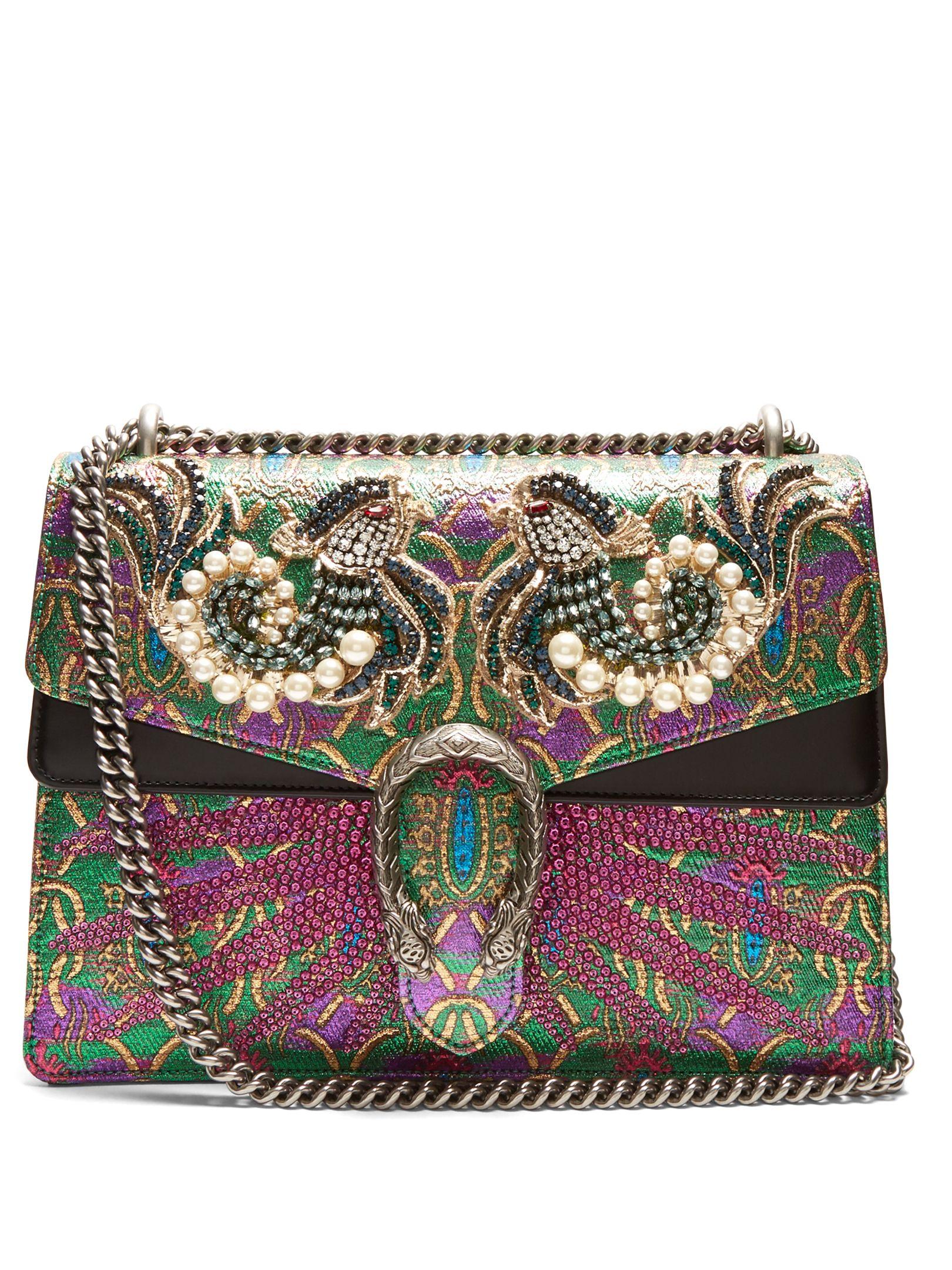 1451579724b4 GUCCI Dionysus embellished brocade shoulder bag | GUCCI Bags | Gucci ...