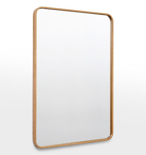 24 Quot X 36 Quot Solid Walnut Rounded Rectangle Mirror In 2019