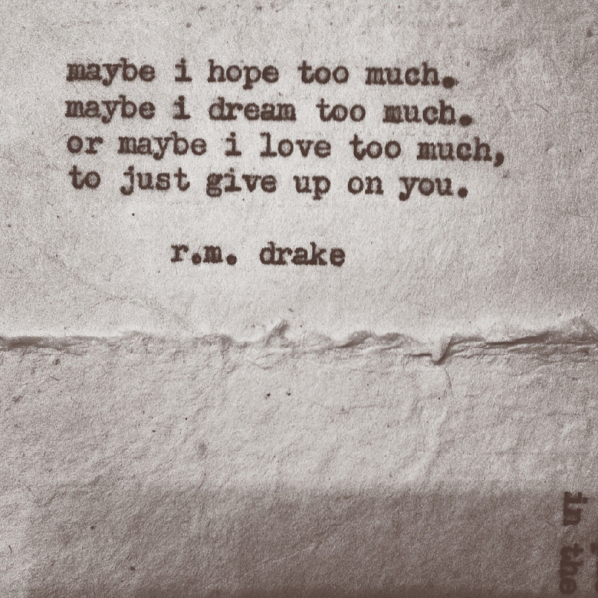 My greatest love, it is time to give up.
