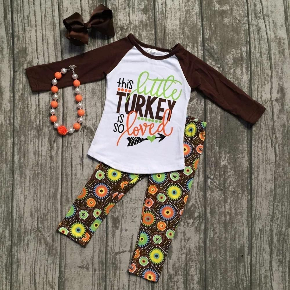 baby girls fall thanksgiving boutique outfits girls this little turkey is  so loved clothing with pants set with accessories e5abdcec7