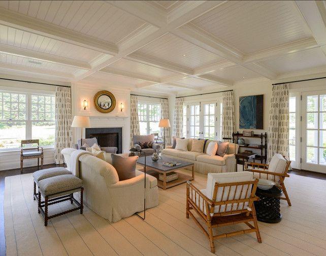Classic Hamptons Beach House Coastal Living Room Naples Florida Beach House House Home