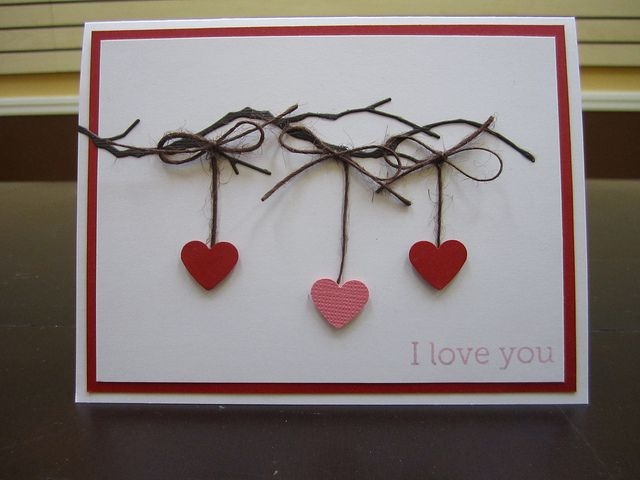 Quick  Easy Valentine Cards  Cards Craft and Card ideas