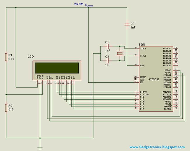 interfacing 16x2 lcd with 8051 microcontroller 8051 Switch Circuit Diagram circuit diagram 8051 programmer