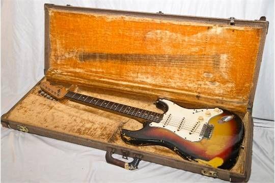 Lot 125 - Jimi Hendrix's 1964 Fender Stratocaster. The last remaining legitimate Jimi Hendrix owned guitar out