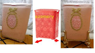 تزيين سلة الغسيل الى سلة راقية للعروس Diy Laundry Basket Diy Box Diy Laundry Basket Decorative Boxes