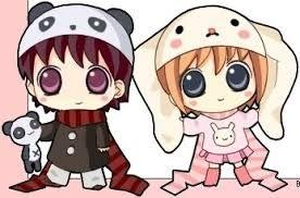Awwwwwwww Panda Boy And Bunny Girl Kawaii Love Parejas De Anime Kawaii