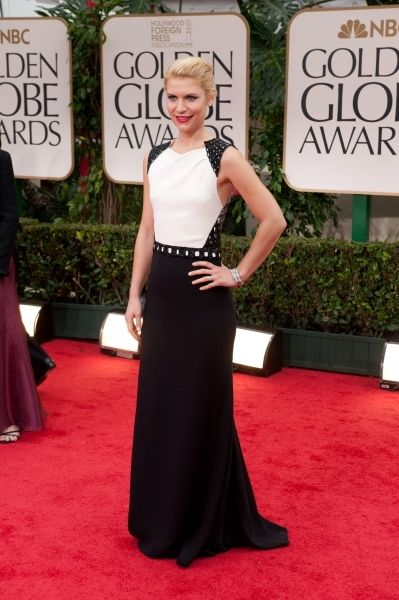 """Nominated for BEST PERFORMANCE BY AN ACTRESS IN A TELEVISION SERIES – DRAMA for Claire Danes' role in """"Homeland"""" (SHOWTIME). I just love Claire Danes. She's the cutest. Plus, her dress says I'm an undercover badass while the back says I'm also elegantly and sexy. (see other image for back). Dress: J Mendel"""