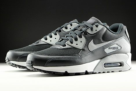 ba0b527064dd Nike Air Max 90 Essential Black Wolf Grey Anthracite White Sidedetails