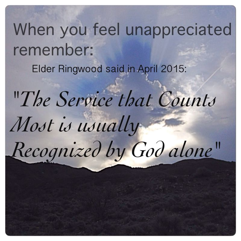 Service that counts the most is usually recognized by God alone