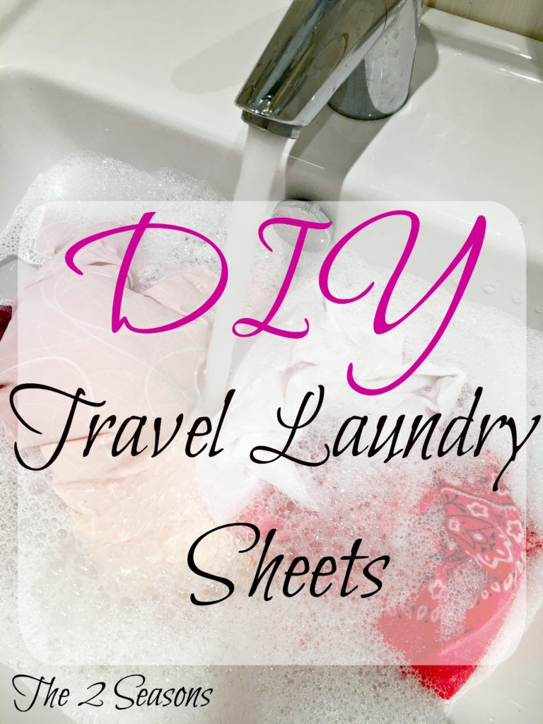 Diy Travel Laundry Sheets Are Good To Take On Long Trips For