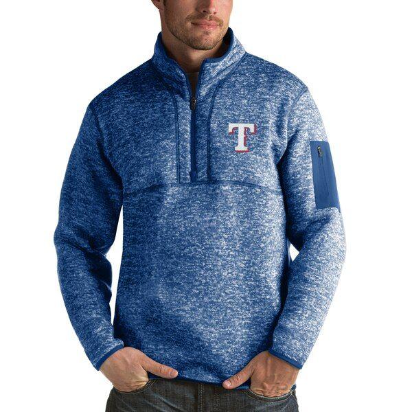 Texas Rangers Antigua Fortune Half Zip Sweater Heathered Royal Texasrangers Half Zip Sweaters Pullover Pullover Jacket