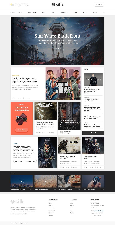 Magazine Jpg By Visual Hierarchy Magazine Website Design News Web Design Modern Website Design