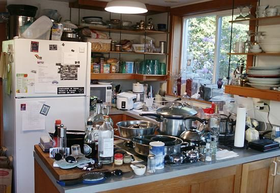 Image result for messy kitchens