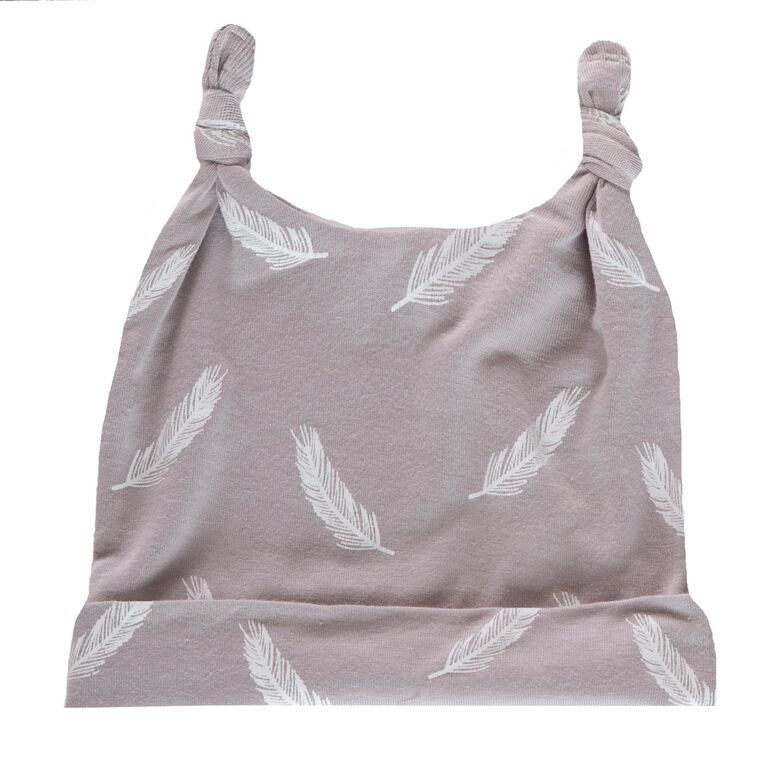 KicKee Pants Print Double Knot Hat - Falling Feathers