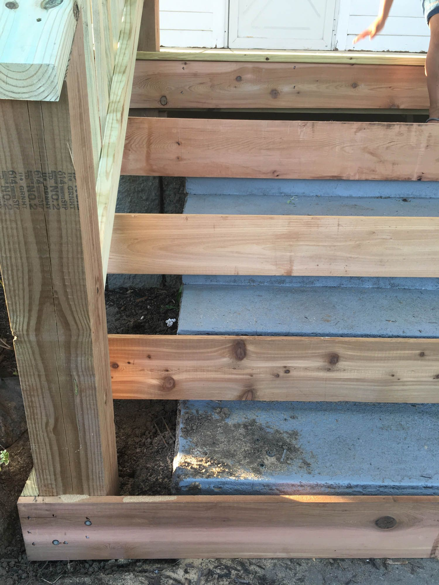 Best How To Cover Concrete Steps With Wood Front Porch Steps 400 x 300