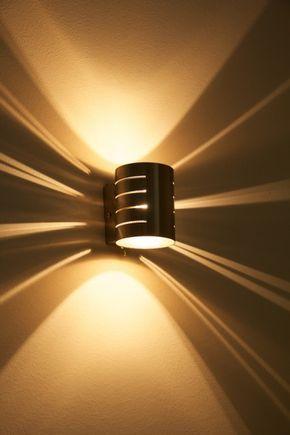 Wandlampe Design Leuchte Wandleuchte Flurlampe Nickel