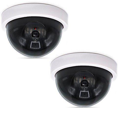 5x Securitycamera Dummy Fake Indoor Outdoor Cctv Dummy Security Camera Led Light