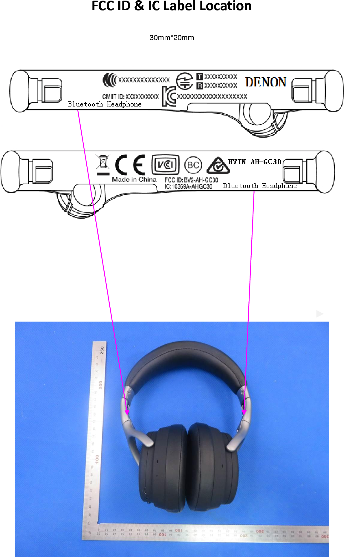 D and M, Holdings Inc  Bluetooth Headphone AH-GC30 (BV2-AH