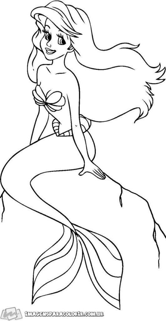 Pequena Sereia Desenhos Animados Para Desenhar Desenhos De