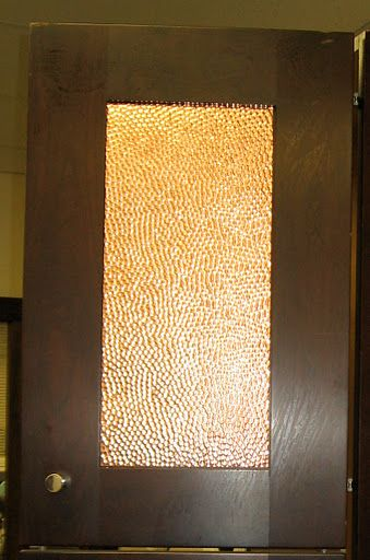 Hammered Copper Door Inserts Is A Great Way To Dress Up Your