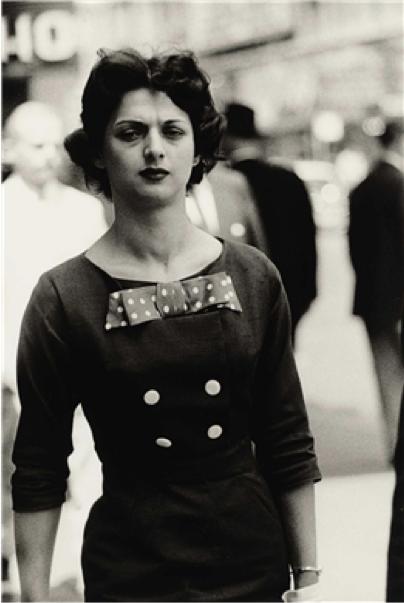 Diane Arbus, 1956, Woman in a Bow Dress, N.Y.C.