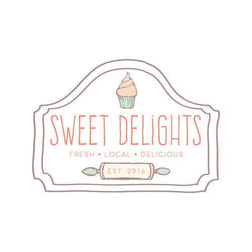 Cupcake Rolling Pin Logo Design Customized With Your Business Name Ramble Road Studios Business Names Logo Design Business Cards Layout