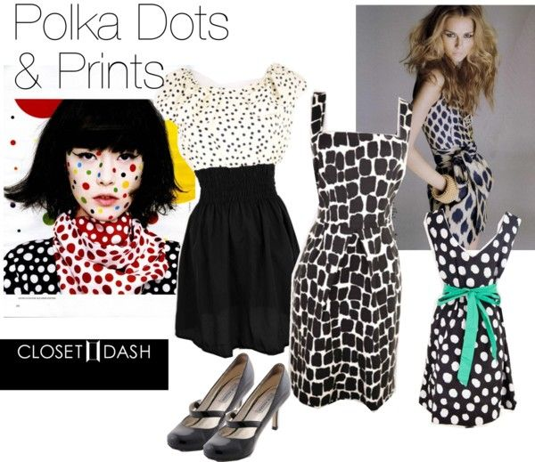 """""""Polka Dots and Prints"""" by closetdash on Polyvore"""