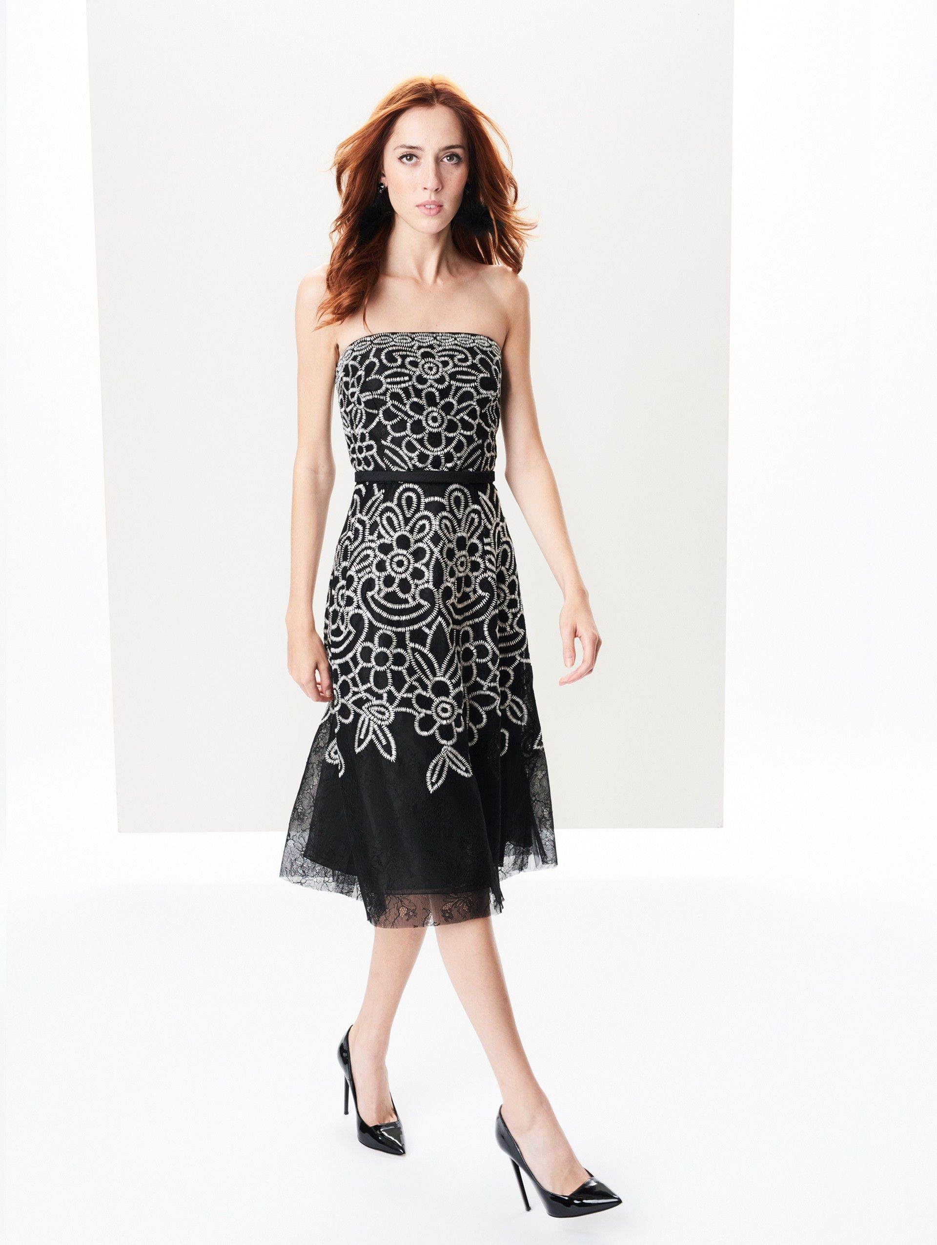 Embroidered Chantilly Lace Cocktail Dress New Arrivals Cocktail Dress Lace Lace Dress Cocktail Dress [ 2551 x 1920 Pixel ]