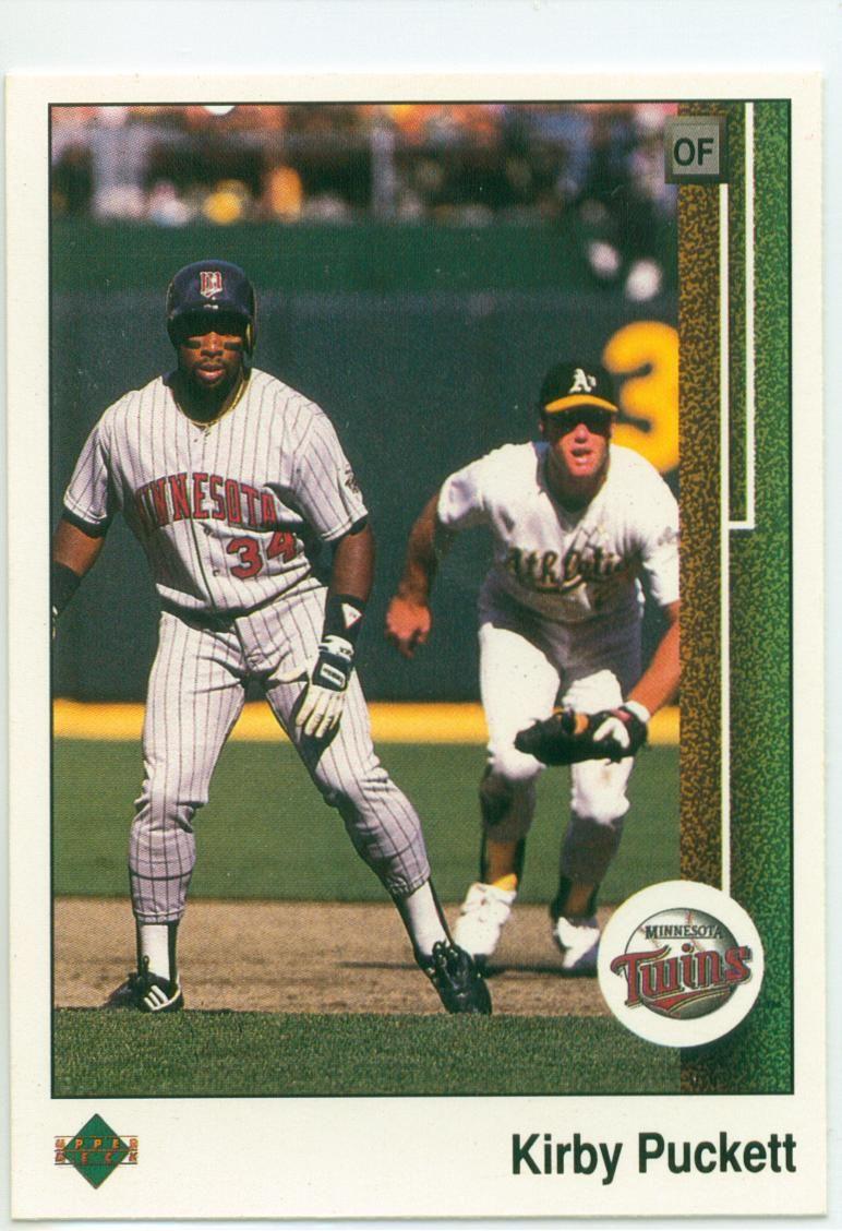 1989 Upper Deck Kirby Puckett (w/Mark McGwire in the