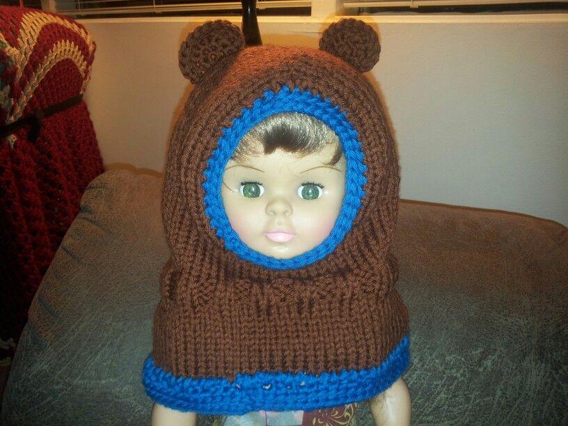 Boy's hooded bear cowl