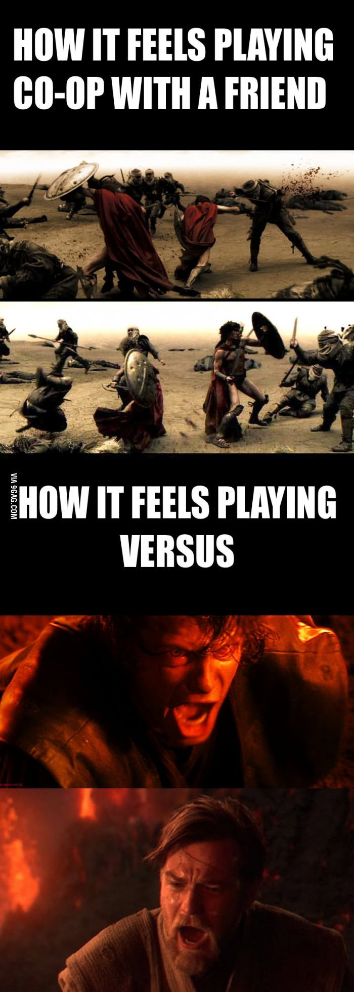 How friendships end in gaming. Many thousands of friendships have been killed by Micromachines alone! :)