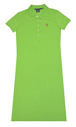 Ralph Lauren Sport Womens Mesh Polo Dress Racing Green XSmall * You can  find out more details at the link of the image.