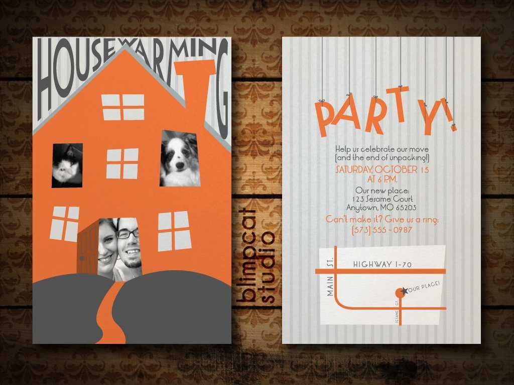 What a cute Housewarming Party invitation - can change out the ...