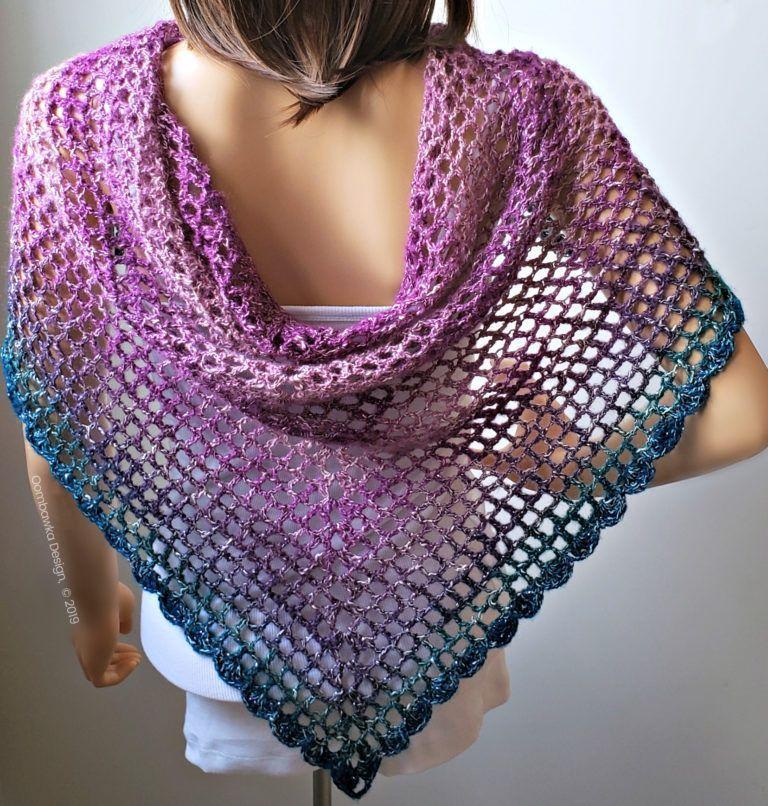 #One Skein Crochet Patterns #Pattern #Shawl #Simple #Skein ...