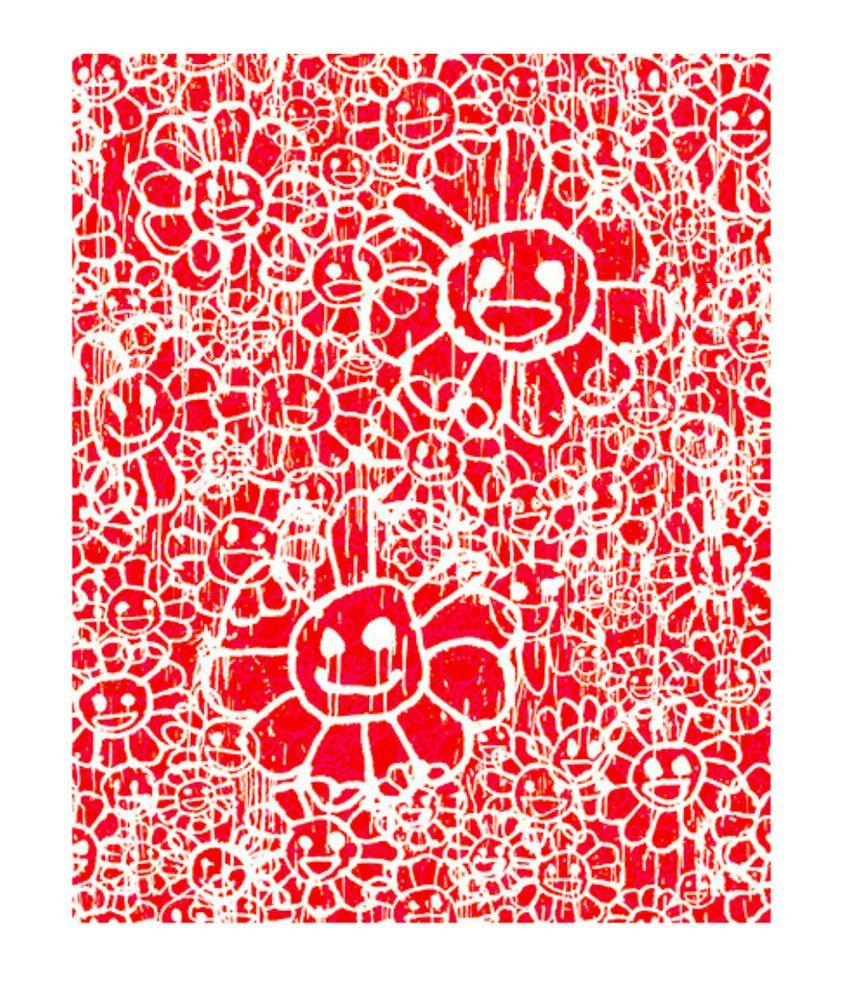 748816b45eba Takashi Murakami x Madsaki Complexcon Flowers Lithograph A Red 8 100   UrbanArt  popart  japaneseart  murakami