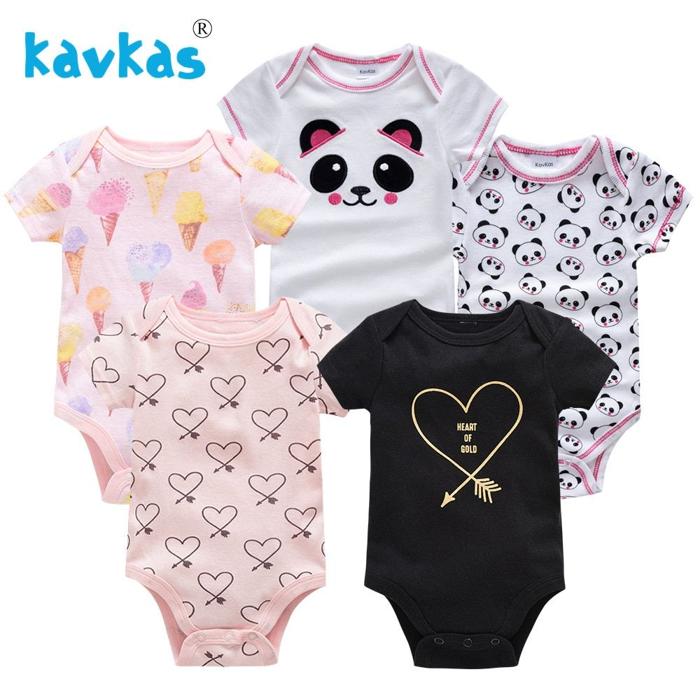 d3be54ce7 Cartoon Baby Girl Rompers Summer Newborn Baby Girl Clothes Cotton ...