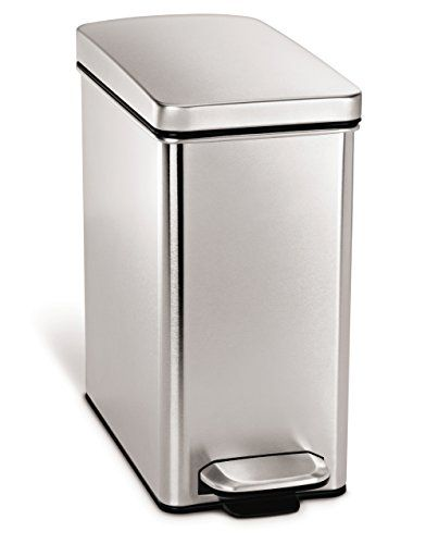 simplehuman profile step trash can stainless steel 10 l 2 6 gal rh pinterest ca