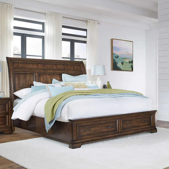 Pacific Grove Cal King Sleigh Bed In 2020 Panel Bed Sleigh Beds Queen Panel Beds