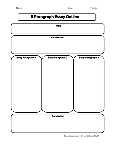 Graphic organizers for writing.