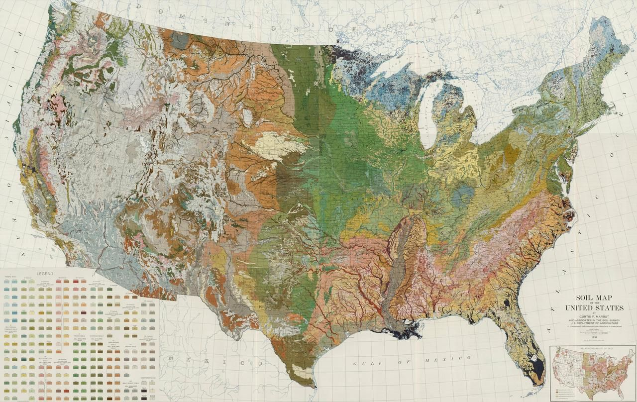 Soil map of the United States the