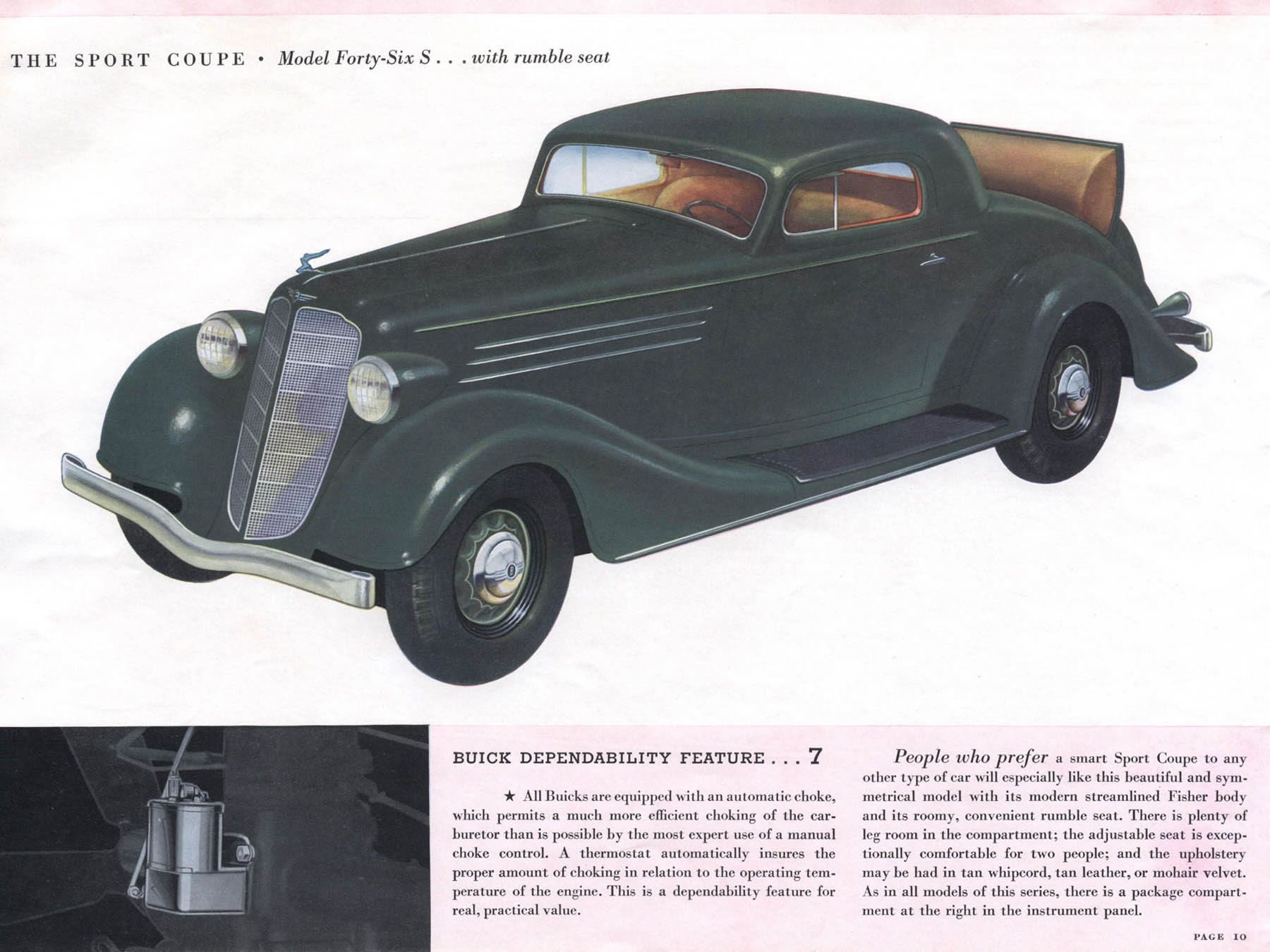 1935 buick model forty six s sport coupe