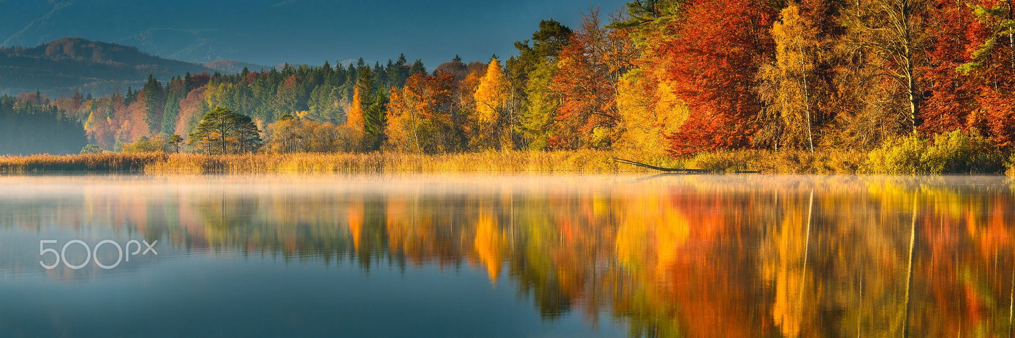 Autumn reflection by Denis Feiner on 500px