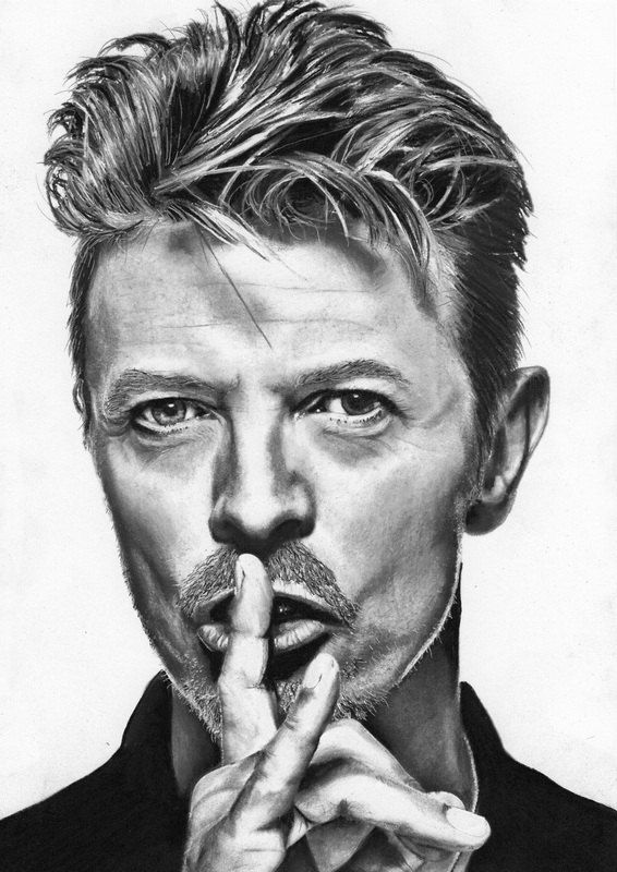 david bowie portrait sketch limited edition print by arcadenceart david bowie pinterest. Black Bedroom Furniture Sets. Home Design Ideas