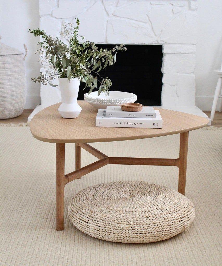 Brezza Light Oak Triangular Coffee Table Round Coffee Table Decor Round Coffee Table Modern Round Coffee Table Living Room [ 1024 x 853 Pixel ]