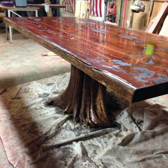 Stump Table Live Edge Dining Table Live Edge Table Cedar Table