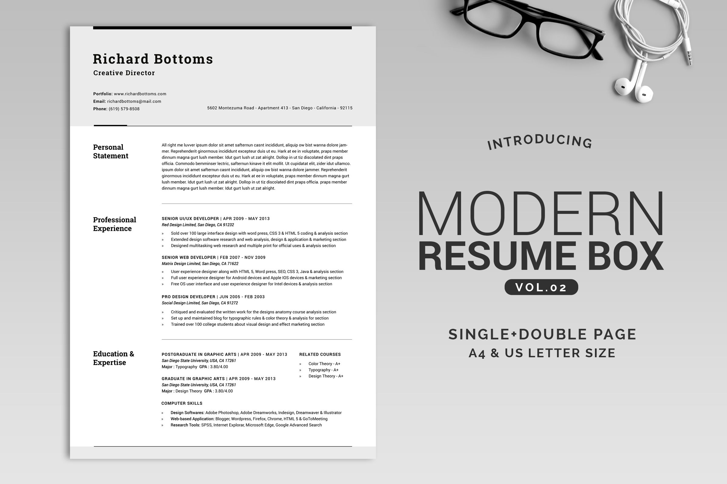 All in One Modern Resume Box V.2 by SNIPESCIENTIST on ...