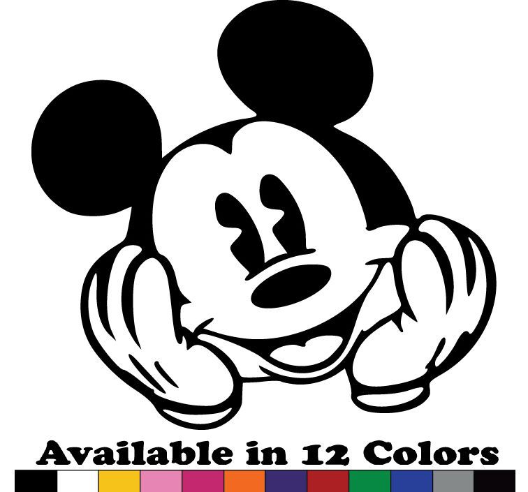 Outline Mickey Mouse Decal